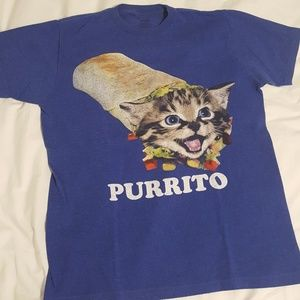 "Urban Outfitters ""Purrito"" Cat/Burrito T-shirt"